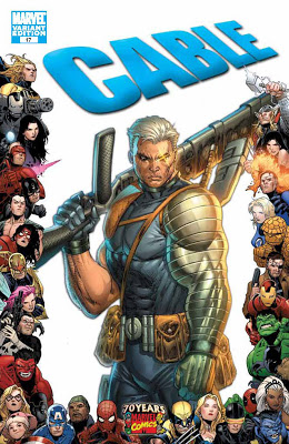 Cable Issue Number 17 - Marvel Comics 70th Anniversary Variant Cover Artwork featuring Cable by Rob Liefeld.jpg