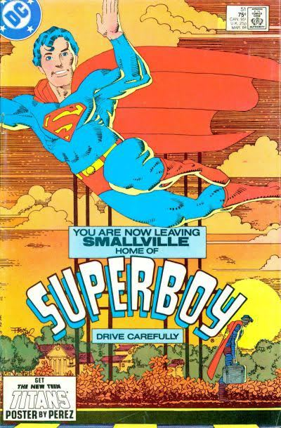 Cover to The New Adventures of Superboy #51 by Frank Miller|Superboy leaves Smallville|Covers|lmlmsdf