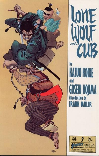 Original Cover to Lone Wolf and Cub #9 by Frank Miller|The bell keeper.|Lone Wolf and Cub|ddd