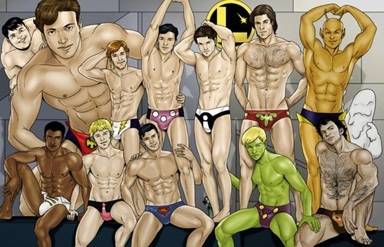 legion of superheroes in speedos