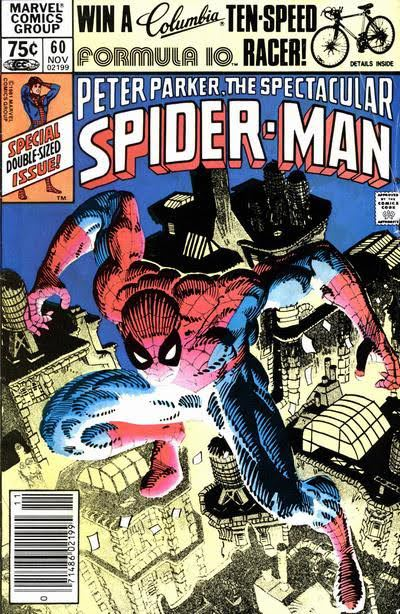 Cover to The Spectacular Spider-Man #60 by Frank Miller Spider-man atop the city of New York Covers mlm